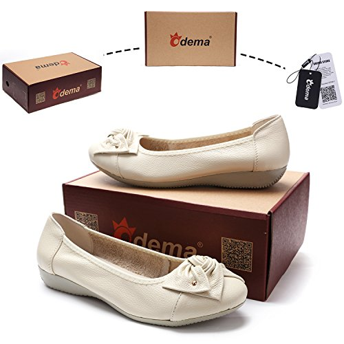 Slip Odema Leather Shoes 9 Shoes Driving Walking Casual 11Colors Beige Womens Flats 5 Loafers 5 Size Moccasins 6 ONS r5ErRFq