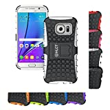 Galaxy S7 Case, HLCT Rugged Shock Proof Dual-Layer Case with Built-In Stand Kickstand for Samsung Galaxy S7 (2016) (White)