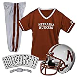 Franklin Sports NCAA Nebraska Huskers Kids College Football Uniform Set - Youth Uniform Set - Includes Jersey, Helmet, Pants - Youth Small