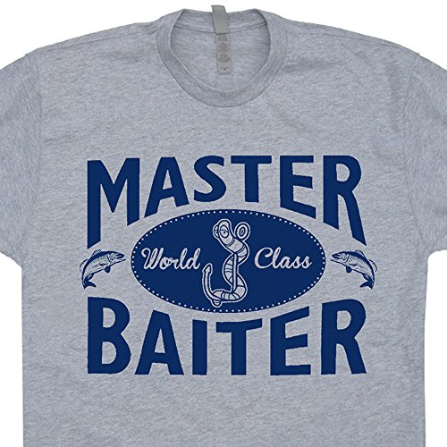 XL - Master Baiter T Shirt Funny Fishing Shirts Offensive (Shocker Funny T-shirt)