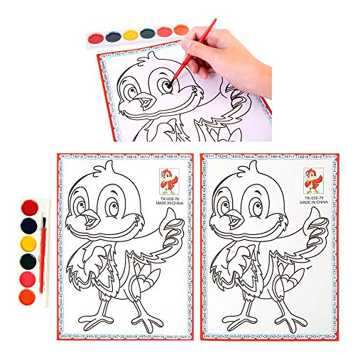 (Sikye Coloring Book,2 Pages Cute Chick and Flower Style Drawing Book for Children's DIY Puzzle)