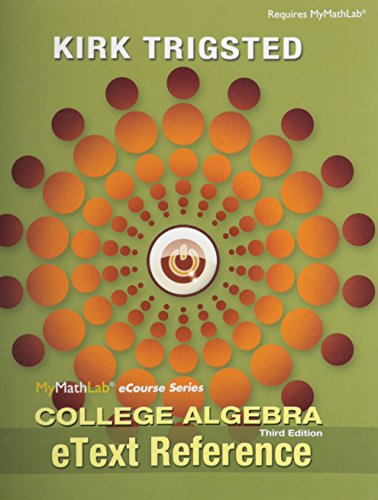 College Algebra Etext Reference