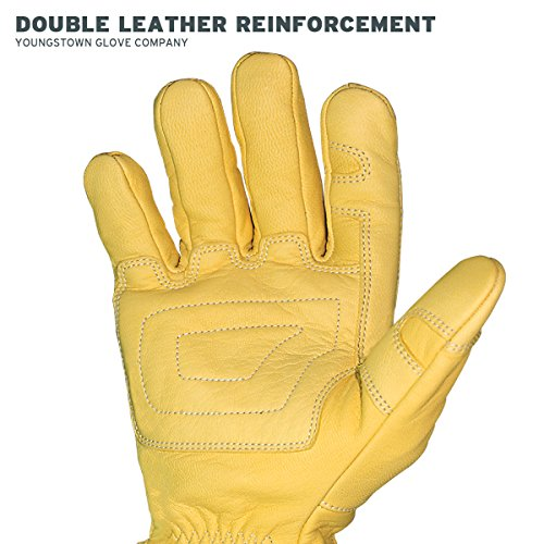 Youngstown Glove 12-3365-60-L FR Ground Glove Lined w/ Kevlar Performance Work Gloves, Large, Tan by Youngstown Glove Company (Image #6)