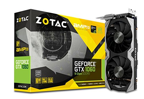 ZOTAC ZT-P10600G-10M GeForce GTX 1060 AMP+ Edition 9Gbps 6GB GDDR5 192-bit PCIe 3.0 Gaming Graphics Card VR Ready (Zotac 1070 Mini Vs Gigabyte 1070 Mini)