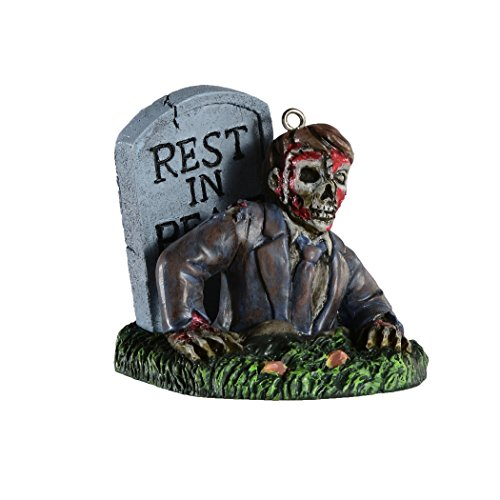 Creepy Zombie Horror Ornament - Scary Prop and Decoration for Halloween, Christmas, Parties and Events - Bobbie Weiner Bloody Mary Series - By HorrorNaments -