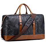 BLUBOON Weekender Overnight Bag Travel Duffle Bag for Men Womens Carry On Tote Bags PU Trim (Camo)
