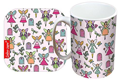 - Selina-Jayne Fairies Limited Edition Designer Mug and Coaster Set