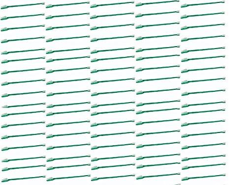 MPP 100 Pack Dual End Pet Toothbrushes Bulk Set Vet Dog Rescue Shelter Choose Color (Green)