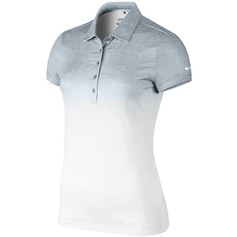 Nike Polo para mujer de colour blanco/gris fade: Amazon.es: Ropa y ...