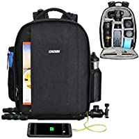 CADeN Camera Backpack Professional DSLR Bag with USB...