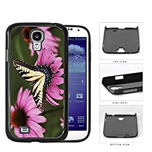Yellow Butterfly And Pink Flower Garden Hard Plastic Snap On Cell Phone Case Samsung Galaxy S4 SIV I9500 by supermalls