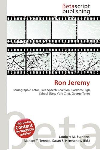 Ron Jeremy: Amazon.es: Surhone, Lambert M, Timpledon, Miriam ...