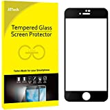 JETech Screen Protector for Apple iPhone 8 and iPhone 7, 4.7-Inch, Full Coverage Tempered Glass Film (Black)