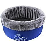 Winsterch Washable Warming Cat Bed Large, Round Pet Bed,Soft Cozy Plush Pet Bed for Cats,16.5 x 5.9 in