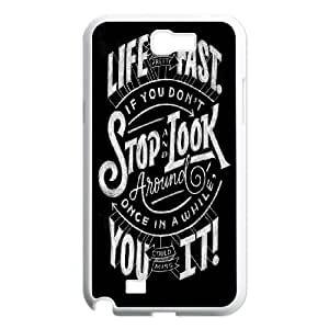Samsung Galaxy N2 7100 Cell Phone Case White Life Moves Fast LV7043141