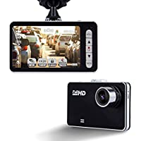 KuLio 2.7 Dash Cam, 120° Wide Angle 1080P Car On-dash Video Recorder G-sensor Vehicle Camera Camcorder with 4X Zoom Lens Motion Detection Support up to 32GB C10 Micro SD Card (Not Included)