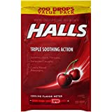 HALLS Cough Drops, (Cherry, 200 Count, 16-Pack)