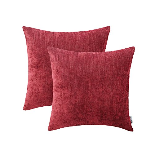 w Pillows Covers For Couch Sofa Bed 20 x 20 inch, Pack of 2 Soft Comfortable Natural Cotton And Linen Decorative Throw Pillows Cases, Euro Decor Cushion Covers ()