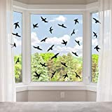 200 Pieces Anti-Collision Bird Window Stickers Bird Window Clings Non-Adhesive Vinyl Cling Bird Stickers to Prevent Bird Strikes on Window Glass Supplies