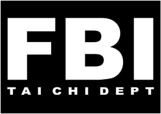 Teeburon FBI Dept Tai Chi Pack de Pegatinas x4: Amazon.es: Hogar