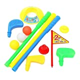 SODIAL(R) Golf Set Putter Plastic 3 Balls + 2 Tees + 3 golf Cue+ Golf Hole Kids Toy