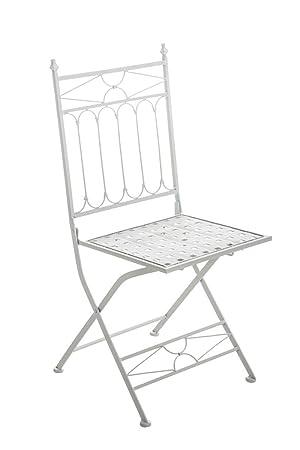 Garten Balkon Klappstuhl Für Draußen In Weiß Bistro Stuhl Camping