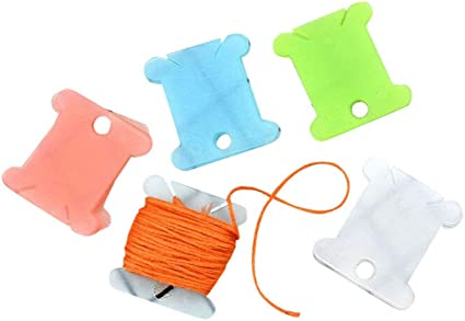 50 or 100 Embroidery Floss Thread Plastic Bobbin Cross Stitch Bobbins 10