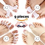 9 PCS Bunion Corrector Sleeves Kits, Best Bunion Corrector, Toe Spacers, Toe Separators, Bunion Splint and Toe Straighteners for Pain Relief, Bunions Treatment, and Splint Treatment, 2018 Upgraded