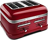 KitchenAid KMT4203CA Candy Apple Red 4-Slice Pro Line Toaster