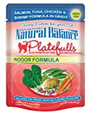 Natural Balance 3-Ounce Platefulls Indoor Salmon, Tuna, Chicken and Shrimp Formula in Gravy Entree for Cats, Pack of 24, My Pet Supplies
