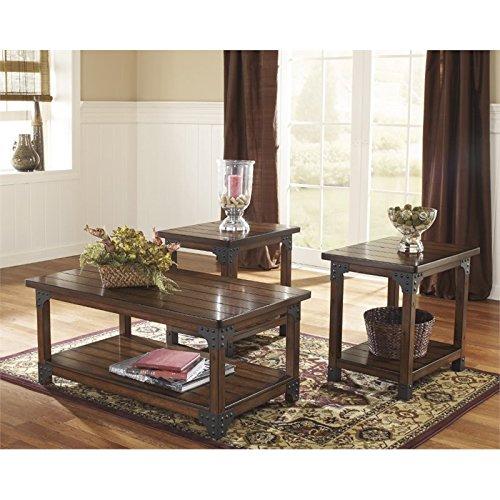 Ashley Furniture Signature Design - Murphy 3 Piece Occasional Table Set, Medium (Coffe Table Set)