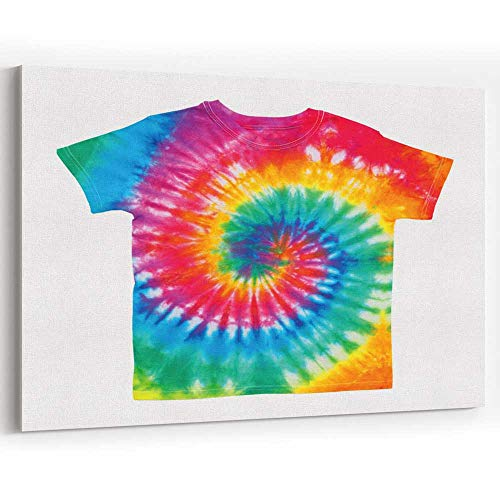 Tie Dye Shirt Wall - Tie Dye Shirt Canvas Prints Wall Art,162616 Modern Wall Decor/Home Decoration,18