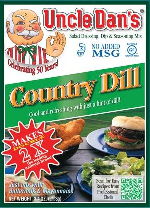 Uncle Dan's California Country Dill Dressing, Dip, & Seasoning Mix- Packet