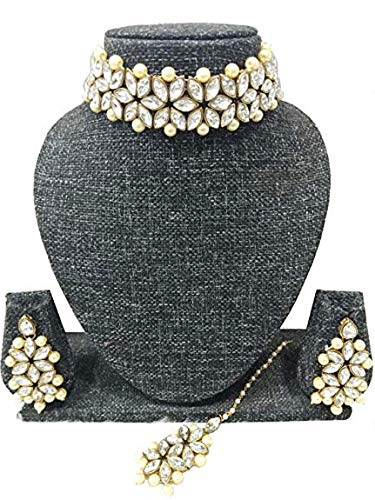 Manath Bridal Gold Plated Kundan Neckless Set for Women and Girls product image