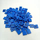 Putars Cute 100 Wooden Scrabble Tiles Black Letters Numbers for Crafts Wood Alphabets