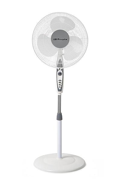 Orbegozo SF 0147 Ventilador de pie oscilante, 3 niveles de ventilación, tamaño aspas 40 cm, altura regulable, 50 W de potencia