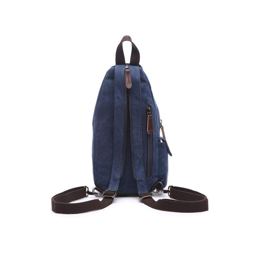 Color : Black, Size : 34x17x10cm 34x17x10cm YWJ Backpack Mens Casual Sports Light Canvas Shoulder Bag Messenger Bag Shoulder Bag Female Fashion Trend Chest Bag