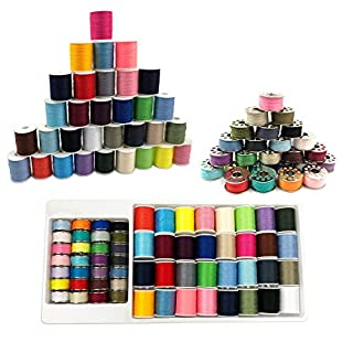 Sewing Kit, 128 Pcs DIY Quality Sewing Supplies, 40 Spools of Thread, Multi Colors - Extra 40 Sewing Pins, Needles, Tape Measure in Case, for Emergency, Travel, Kids, Beginners