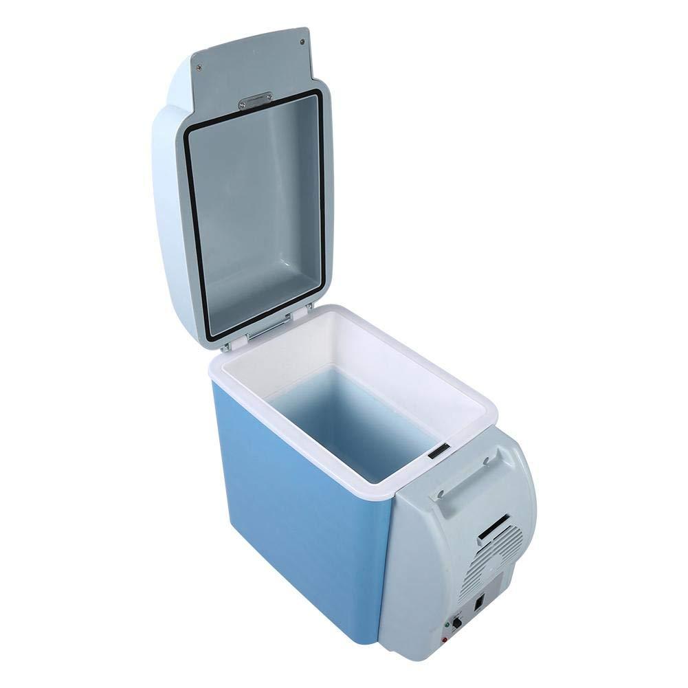R/éfrig/érateur de Voiture 7,5 L Mini Frigo Portable 2-en-1 Chaud et Froid Glaci/ère Electrique Mini R/éfrig/érateur pour Voiture DC 12V avec Sangle Portable pour Voiture Pique-Nique Camping 31*16.5*30cm