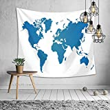 kaige Tapestry World map Digital Printing Picture Tablecloth Beach Towel