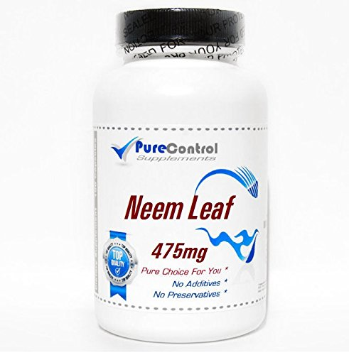 (Neem Leaf 475mg // 100 Capsules // Pure // by PureControl Supplements)