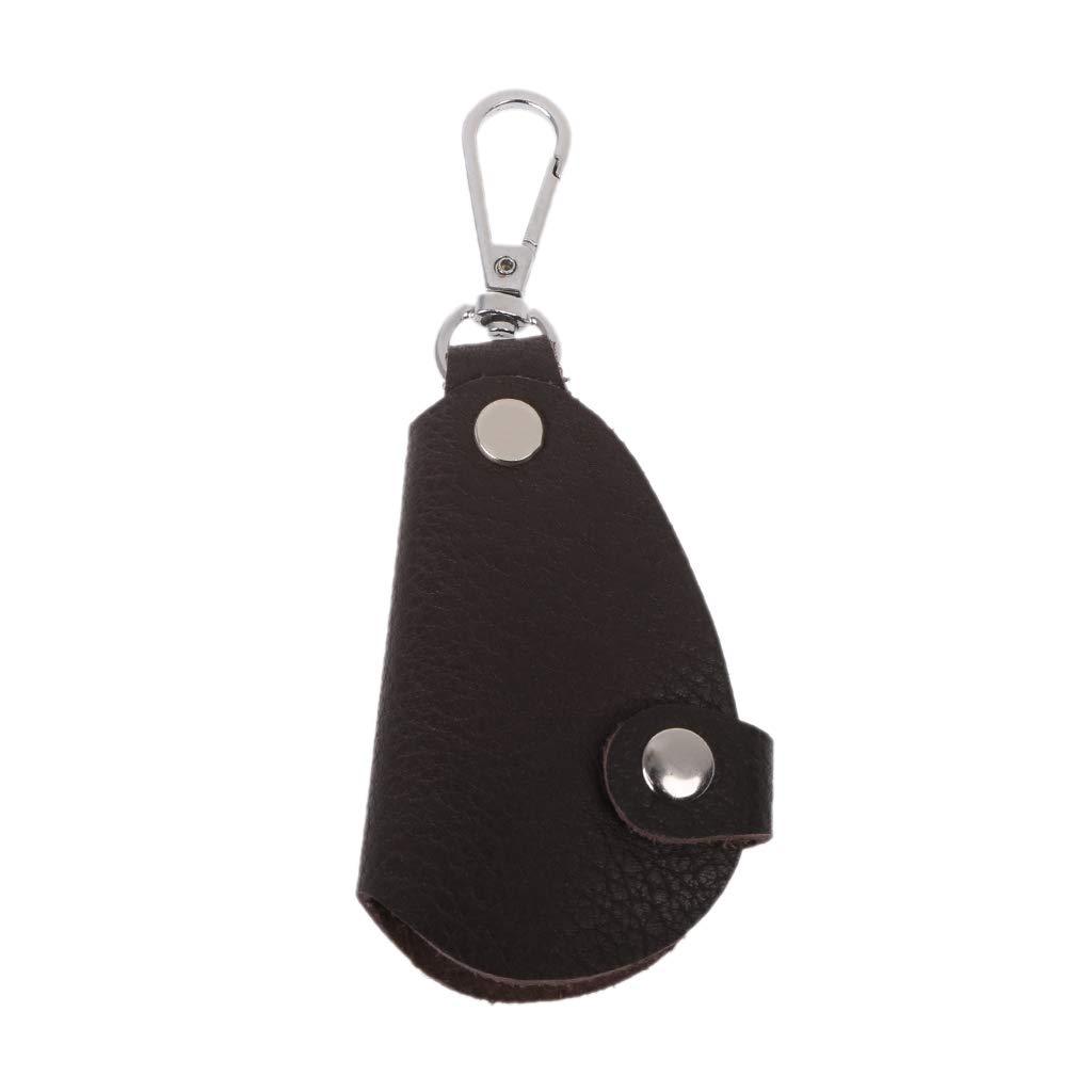 Cuero negro titular de la llavero//caja de la llave de la cartera del llavero del cuero suave de la