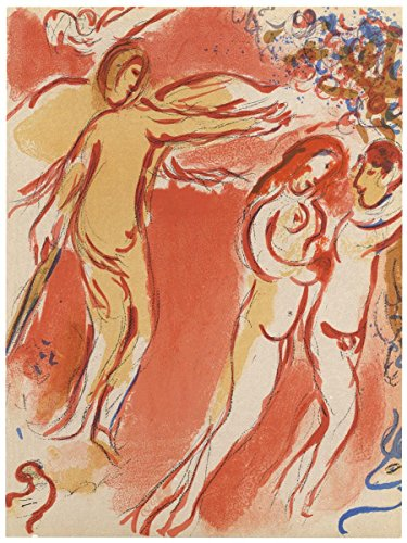 Gifts Delight Laminated 24x32 Poster: Marc Chagall Adam and Eve Expelled from Paradise Original Bible Lithograph