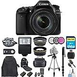 Canon EOS 80D DSLR Camera with 18-135mm IS USM Lens [International Version] (Mega Bundle)