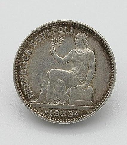 Desconocido Moneda de Plata de 1 Peseta de la 2a República de ...