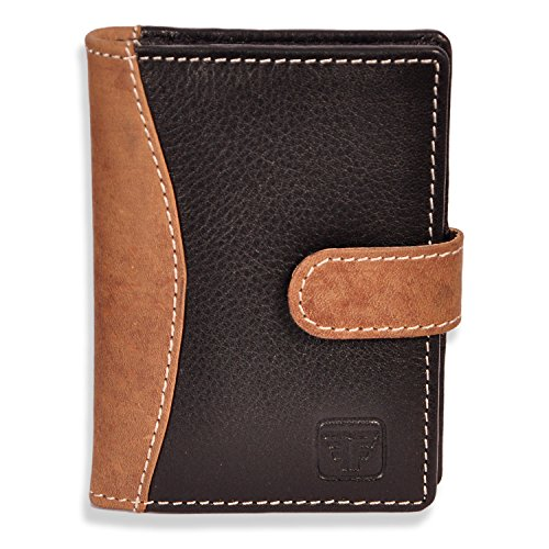 Fashion Freak Credit Card ATM Card Case Holder Leather Black Brown Colour – Best Gift For Yourself or Your Loved Ones (BLACK & HUNTER LEATHER)