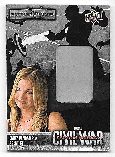 Superstar Movie Costume (2016 Captain America Civil War Broken Bonds Emily VanCamp Agent 13 Costume Relic)