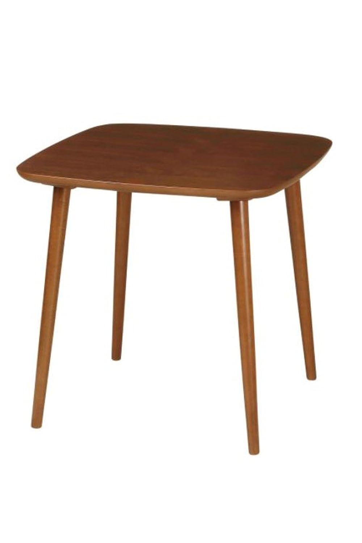 AHEART 木製ダイニングテーブル 2人用 4人用 SI 260 ブラウン 幅75㎝ B077Y7QYR1 幅75㎝|ブラウン ブラウン 幅75㎝