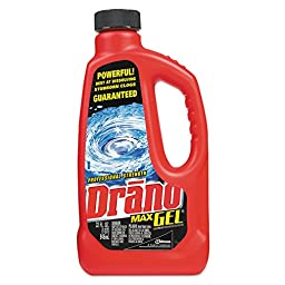 Drano DRK CB001176  DVOCB001176 Max Gel Clog Remover, 32 oz. Bottle, 12 per Carton (Pack of 12)
