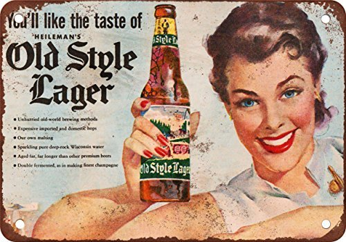 - Heileman's Old Style Lager Vintage Look Reproduction Metal Signs 12X16 Inches 2